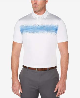 PGA Tour Men's Space-Dyed Broken Chest Stripe Polo