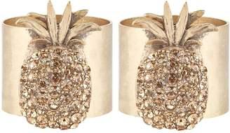 Joanna Buchanan Pineapple Napkin Rings (Set of 2)