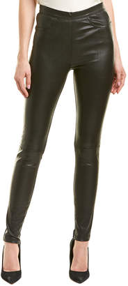 Maje Zippered Leather Legging