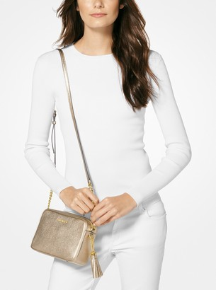 MICHAEL Michael Kors Ginny Metallic Leather Crossbody