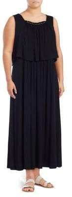 Context Plus Sleeveless Popover Maxi Dress