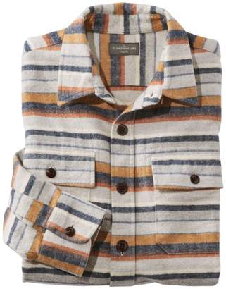 L.L. Bean L.L.Bean Men's Signature 1933 Chamois Cloth Shirt, Slim Fit Stripe