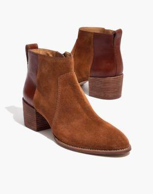 Madewell The Asher Boot in Suede and Leather