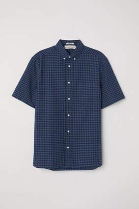 H&M Short-sleeve Shirt Regular fit - Pink - Men