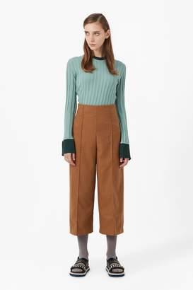 Genuine People High Waisted Wide Leg Crop Pants