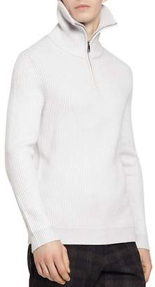 Reiss Inglestion Quarter-Zip Funnel Neck Sweater