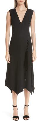 Yigal Azrouel Lace-Up Asymmetrical Dress