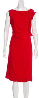 Valentino Bow-Accented Ruched Dress