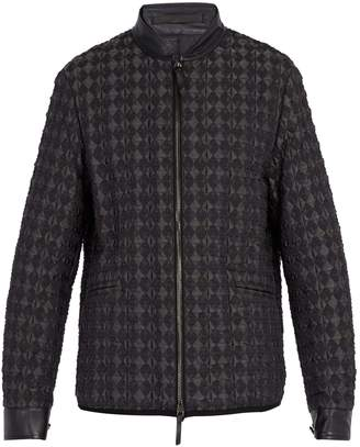 Giorgio Armani Diamond-quilted bomber jacket