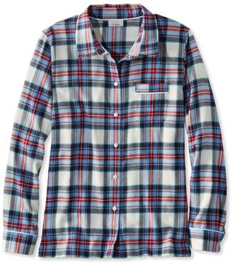 L.L. Bean L.L.Bean Flannel Pajama Top, Plaid