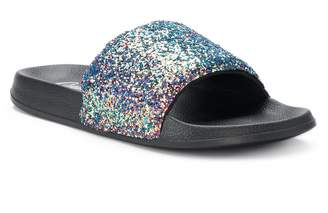 Candies Women's Candie's Glitter Slide Sandals