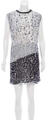 Helmut Lang Sleeveless Silk Mini Dress
