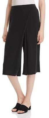 Eileen Fisher Silk Faux-Wrap Gaucho Pants