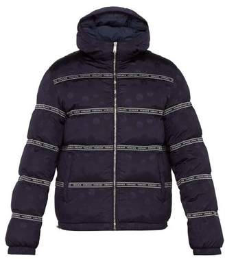 Versace Medusa Jacquard Hooded Down Filled Jacket - Mens - Navy