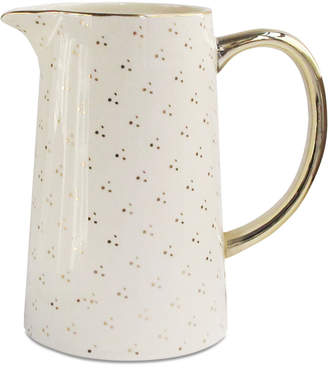 Jay Imports Spring Soiree White & Gold-Tone Pitcher, Created for Macy's
