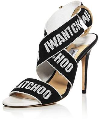 Jimmy Choo Women's Bailey 100 Logo Tape High-Heel Sandals