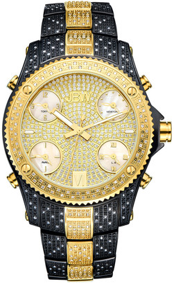 JBW Men's Jet Setter Diamond & Crystal Watch