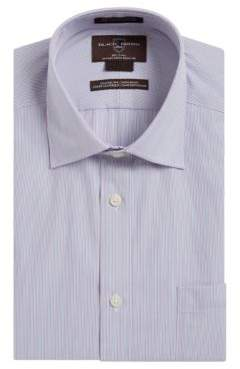 Black & Brown Black Brown Stripe Cotton Dress Shirt