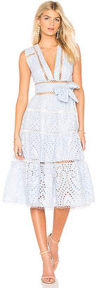 Karina Grimaldi Alba Eyelet Dress