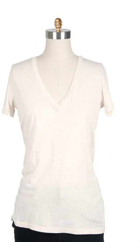 Splendid Short Sleeve Deep V-Neck T-Shirt