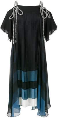 Chloé tie rope pleated dress