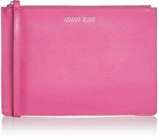 Armani Jeans Eco leather clutch bag