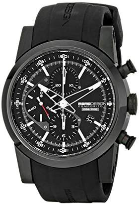 MOMO Design Men's MD280BK-01BKBK Composito Analog Display Swiss Automatic Black Watch