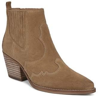 Sam Edelman Women's Winona Pointed Toe Suede Mid-Heel Booties