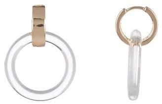 Ettika Clear Drop Hoop Earrings