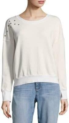 Splendid Cropped Star Sweatshirt