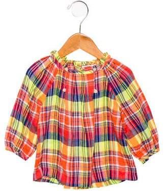 Ralph Lauren Girls' Plaid Long Sleeve Top w/ Tags