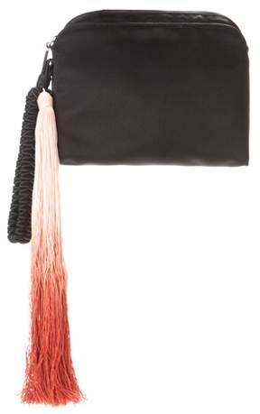 The Row Wristlet silk clutch
