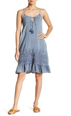 Romeo & Juliet Couture Tie Neck Eyelet Embroidery Dress