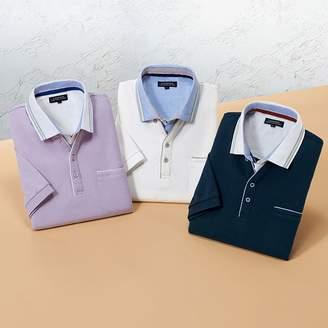 ベルーナ (ベルーナ) - ベルーナ 重ね着風デザインポロシャツ3色組 1 L メンズ