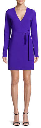 Diane von Furstenberg Long-Sleeve Wrap Dress