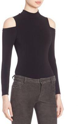 Alice + Olivia Suzi Cold-Shoulder Bodysuit $220 thestylecure.com