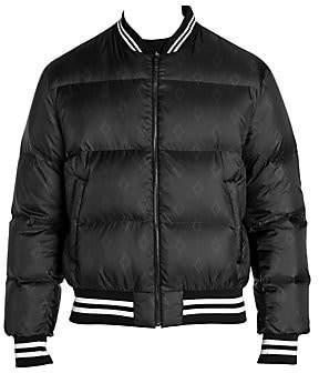 Marcelo Burlon County of Milan Men's Allover Cross Logo Down Bomber Jacket