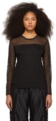 Issey Miyake Black Stripe Tulle Sweater