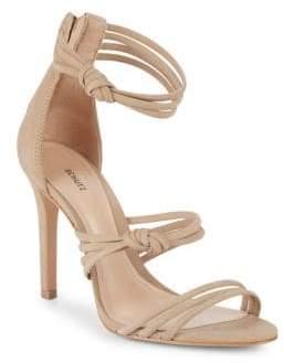 Schutz Suely Suede Ankle-Strap Sandals