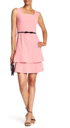 Nine West Ruffle Bow Belt Dress