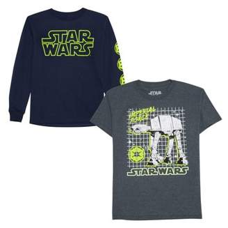 Star Wars Long And Short Sleeve Graphic Shirt Two Pack (Little Boys & Big Boys)