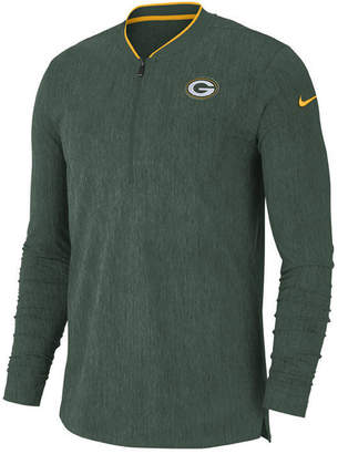 Nike Men Green Bay Packers Coaches Quarter-Zip Pullover