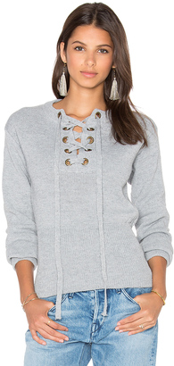 LIONESS Sicily In Dusk Sweater $90 thestylecure.com