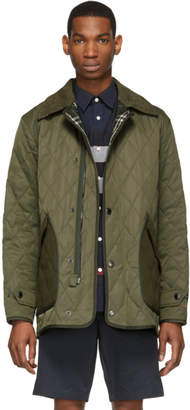 Burberry Green Quilted Tyneside Jacket