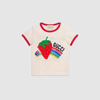 Gucci Baby T-shirt with strawberry print