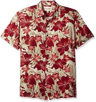 Margaritaville Men's Short Sleeve Tropical Paradise Print Rayon Shirt