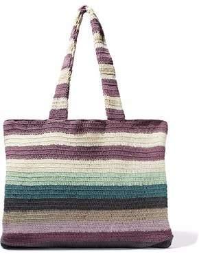Mara Hoffman Striped Crocheted Cotton Tote