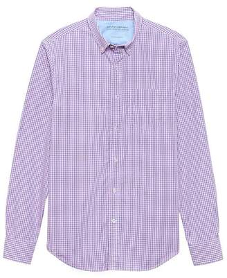 Banana Republic Camden Standard-Fit Luxe Poplin Check Shirt