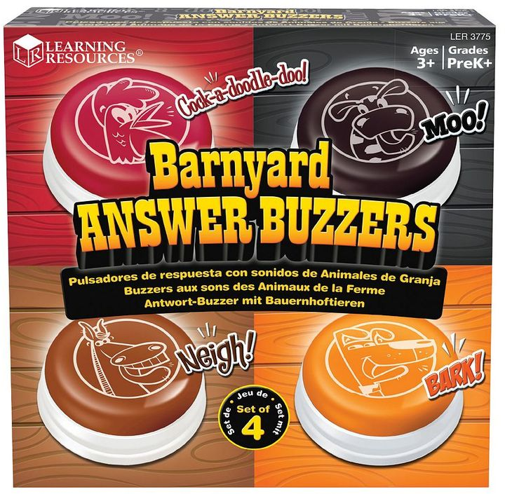 Learning Resources Barnyard Answer Buzzers Set