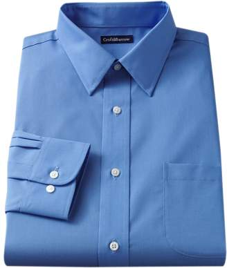 Croft & Barrow Men's Slim-Fit Solid Easy Care Point-Collar Dress Shirt
